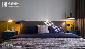 热门77平米二居卧室北欧效果图片