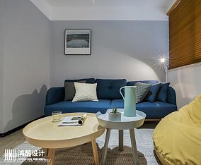 2018精选面积76平北欧二居客厅效果图片大全