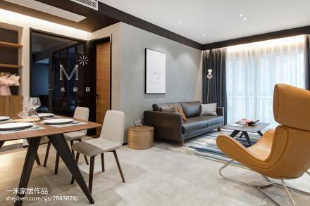 2018精选89平米二居客厅现代效果图片欣赏