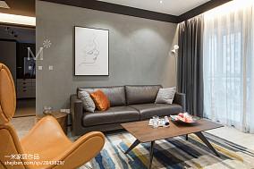 优雅72平现代二居客厅实拍图