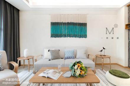 精致130平简约二居装修美图二居现代简约家装装修案例效果图