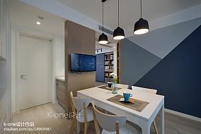 精美71平米二居餐厅北欧装饰图片大全厨房1图北欧极简设计图片赏析