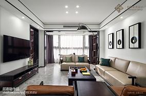 精选大小91平中式三居客厅装修效果图片大全三居中式现代家装装修案例效果图