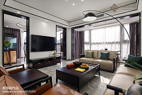 精选大小105平中式三居客厅实景图片欣赏三居中式现代家装装修案例效果图