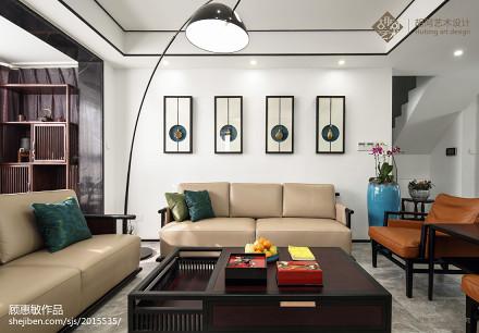面积102平中式三居客厅实景图片欣赏