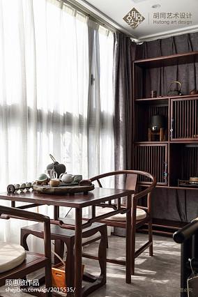 2018精选面积91平中式三居书房装修欣赏图片大全三居中式现代家装装修案例效果图