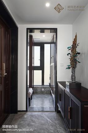 热门中式三居玄关效果图三居中式现代家装装修案例效果图