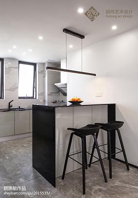 中式三居小吧台设计图三居中式现代家装装修案例效果图