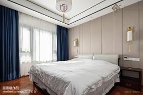 精选面积109平中式三居卧室实景图片三居中式现代家装装修案例效果图