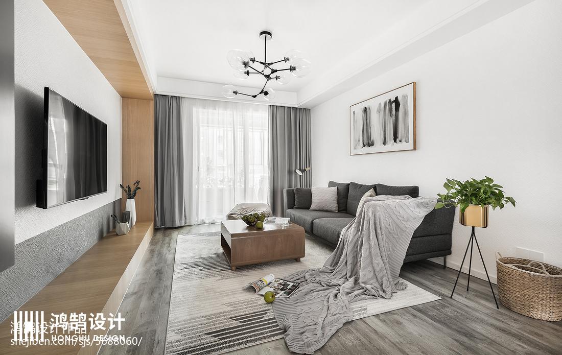 热门99平米三居客厅北欧效果图片大全客厅2图