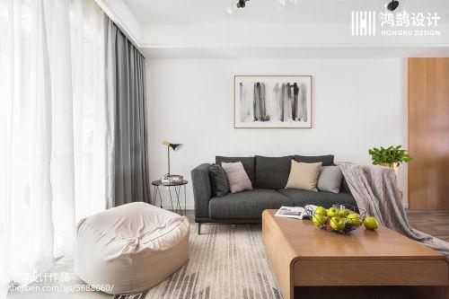 精选109平米三居客厅北欧装修设计效果图片大全客厅窗帘1图