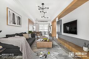 热门103平米三居客厅北欧欣赏图三居北欧极简家装装修案例效果图
