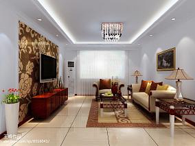 质朴120平现代三居客厅美图