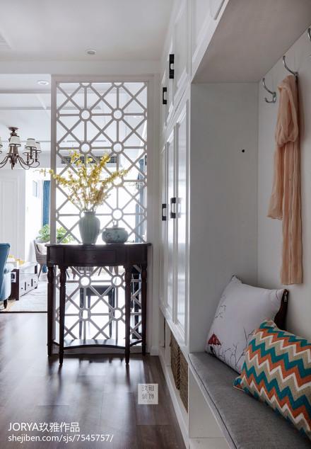 美式风三居玄关设计实景图片玄关