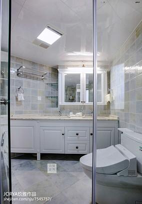 精美面积103平美式三居卫生间装修效果图