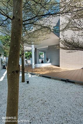 热门142平米现代别墅花园装修设计效果图片大全