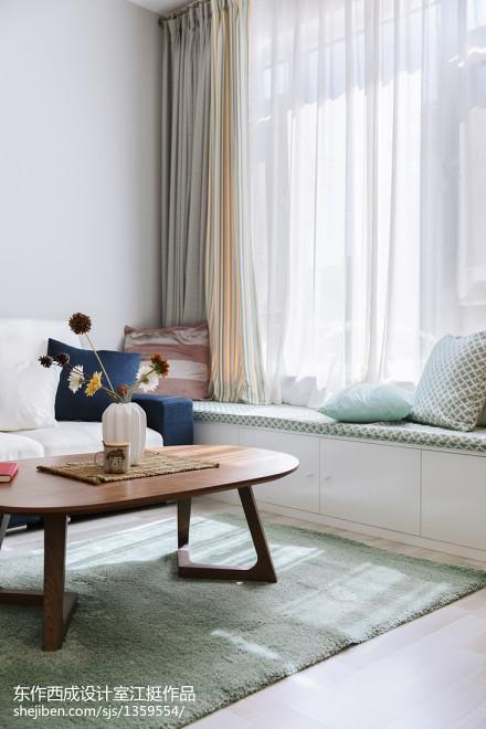 悠雅43平现代复式客厅图片大全