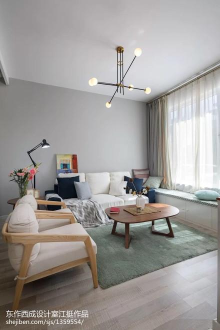 温馨75平现代复式客厅图片大全