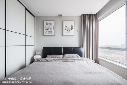 大气82平现代三居卧室装饰图卧室