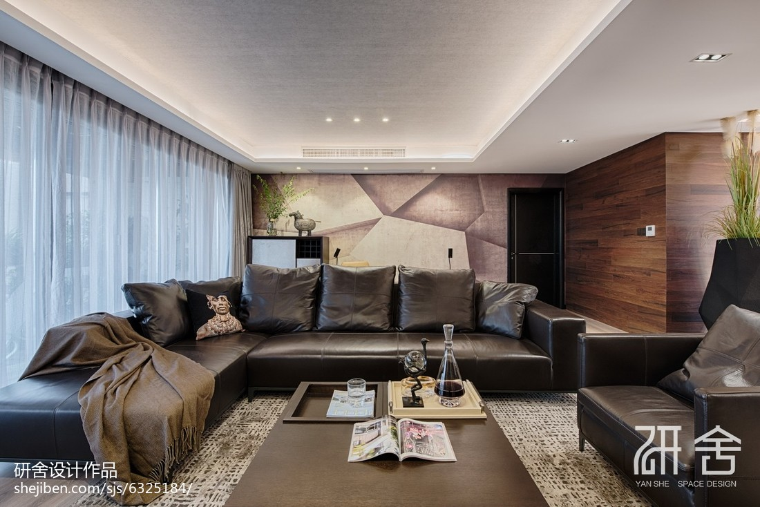 现代都市风休闲区沙发设计图