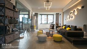 轻奢37平混搭小户型客厅实景图片81-100m²一居潮流混搭家装装修案例效果图