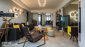 精致37平混搭小户型客厅装修图81-100m²一居潮流混搭家装装修案例效果图