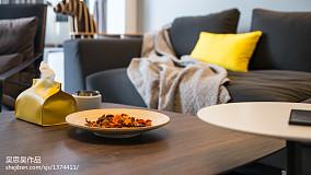 优美23平混搭小户型客厅装潢图81-100m²一居潮流混搭家装装修案例效果图