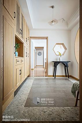 禅意中式玄关设计图四居及以上中式现代家装装修案例效果图