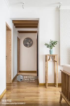 精选面积111平中式四居过道效果图片欣赏四居及以上中式现代家装装修案例效果图
