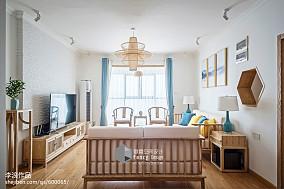 面积128平中式四居客厅装修效果图片欣赏四居及以上中式现代家装装修案例效果图
