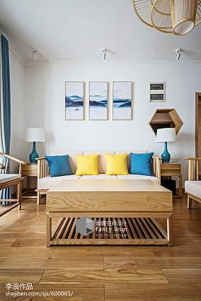 平米四居客厅中式装饰图四居及以上中式现代家装装修案例效果图