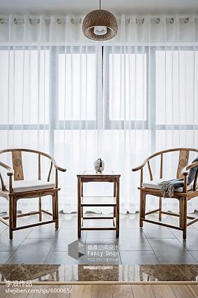 热门112平米四居阳台中式设计效果图