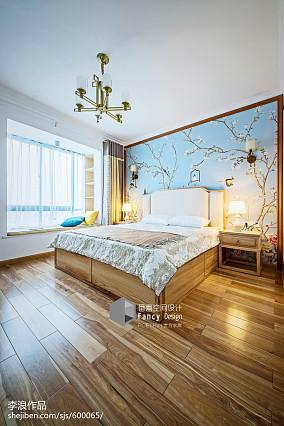 精美91平中式四居装饰美图四居及以上中式现代家装装修案例效果图
