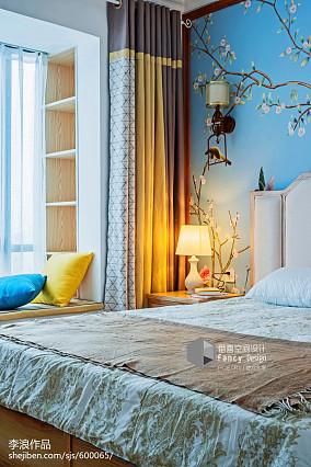 精美面积114平中式四居卧室装修设计效果图片四居及以上中式现代家装装修案例效果图