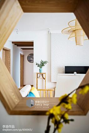 热门中式四居玄关装修图片大全四居及以上中式现代家装装修案例效果图