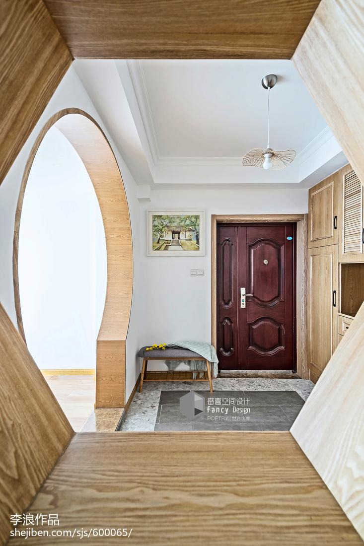 热门面积144平中式四居玄关欣赏图片玄关中式现代玄关设计图片赏析