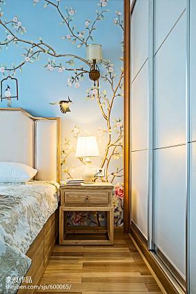 117平米四居卧室中式装修实景图片欣赏卧室1图中式现代设计图片赏析