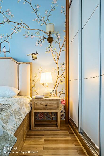 117平米四居卧室中式装修实景图片欣赏卧室1图