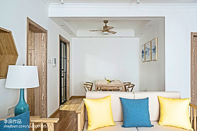 2018精选136平米四居客厅中式装修实景图四居及以上中式现代家装装修案例效果图