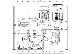 第二步:请为图片添加描述四居及以上中式现代家装装修案例效果图