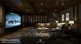 美式别墅整体厨房装修效果图片