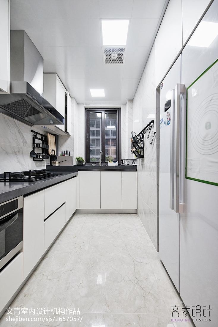 120㎡卫浴厨房设计图餐厅现代简约厨房设计图片赏析