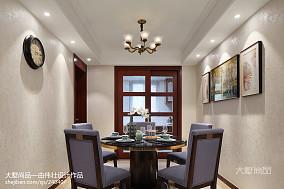 精美79平米二居餐厅美式欣赏图片大全二居美式经典家装装修案例效果图