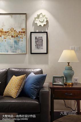 2018大小73平美式二居客厅装修实景图片欣赏二居美式经典家装装修案例效果图