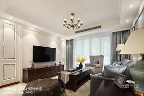 热门79平米二居客厅美式效果图片二居美式经典家装装修案例效果图