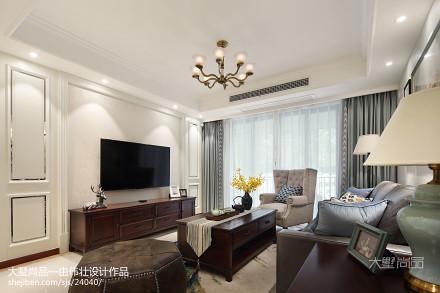 热门79平米二居客厅美式效果图片