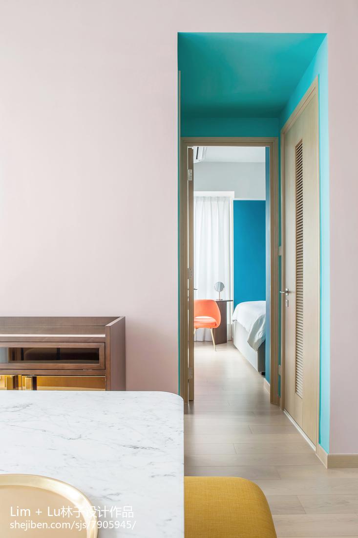 热门74平米现代小户型餐厅装修设计效果图厨房现代简约餐厅设计图片赏析