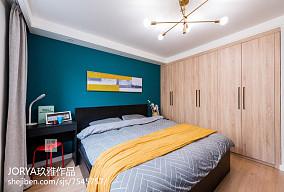 温馨87平美式三居装饰美图三居美式经典家装装修案例效果图