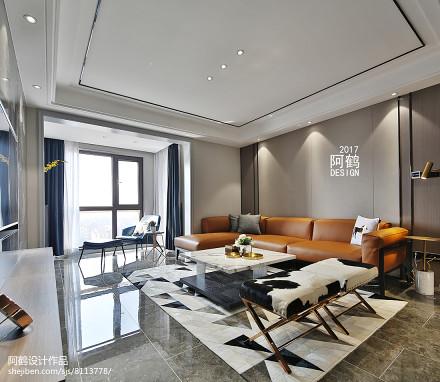 浪漫148平简约四居客厅装修效果图四居及以上现代简约家装装修案例效果图
