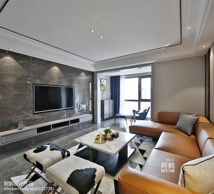 精美131平米四居客厅简约装修欣赏图